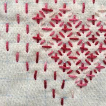 Sashiko Hearts