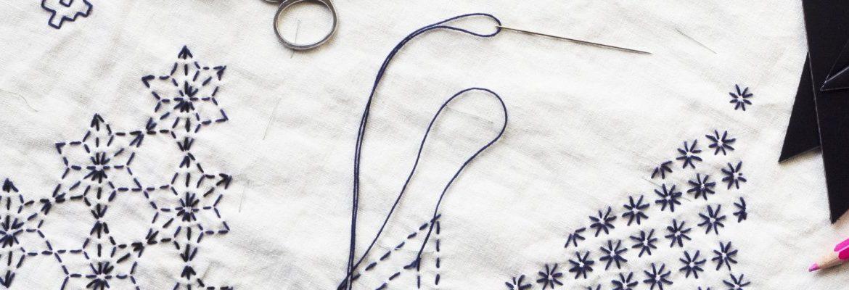 Sahiko stitching table runner