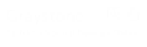 Graystone logo white writing